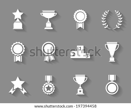set of white vector award