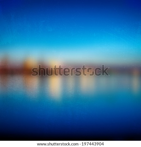 blurred night view of the
