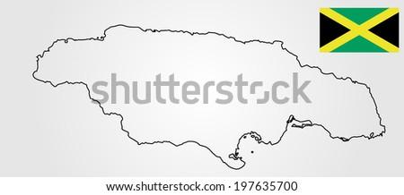 jamaica high detailed vector