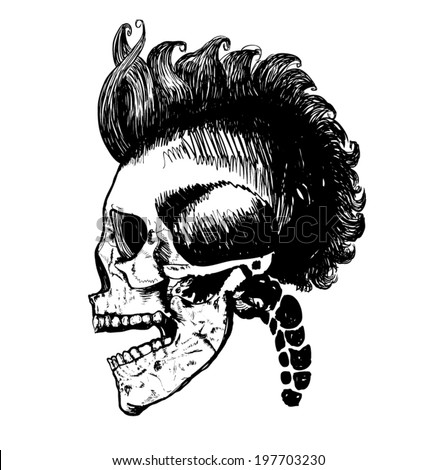warrior skull illustration   t