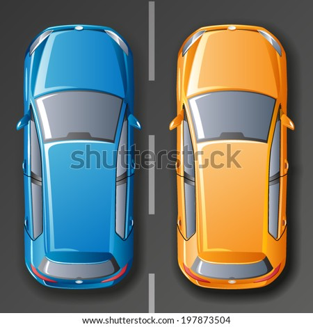 vector cars top view