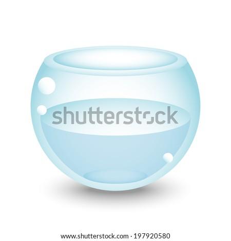 aquarium with water in vector