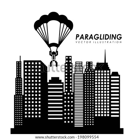 paragliding design over