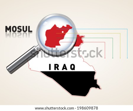 iraq mosul vector map