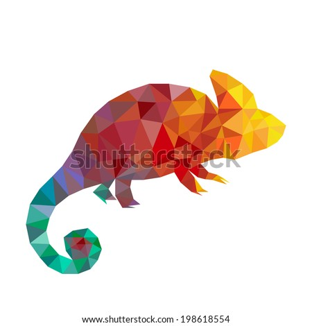 vector art colorful geometric