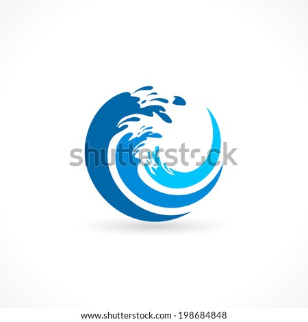 water wave splash design in