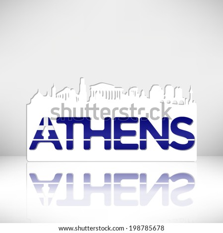 athens greece skyline