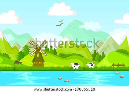 seamless background of rural