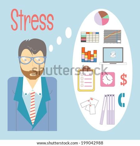 businessman got stress