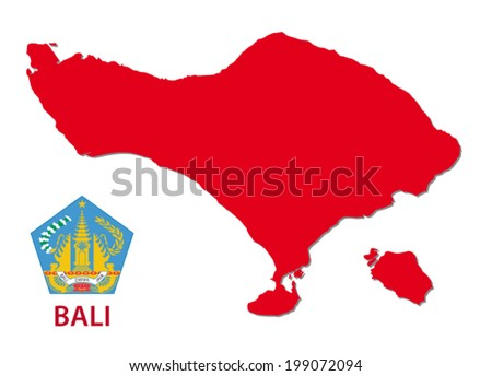 bali map with emblem