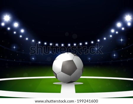 soccer stadium with ball and