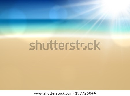 summer coast with sea and sky