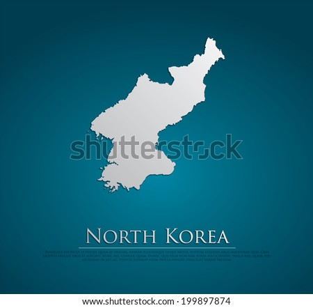 vector north korea map card
