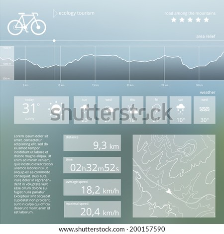 ecology tourism vector web and