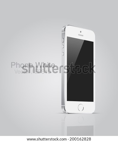 vector mockup white phone