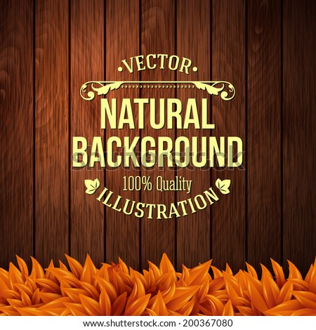 natural background with wooden