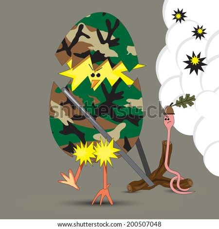 vector humorous illustration of