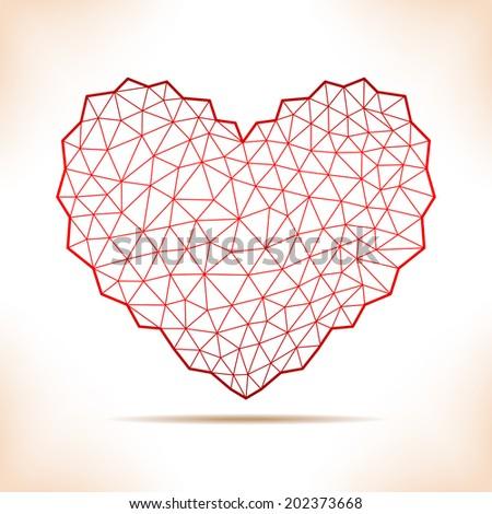 geometric heart for calendar