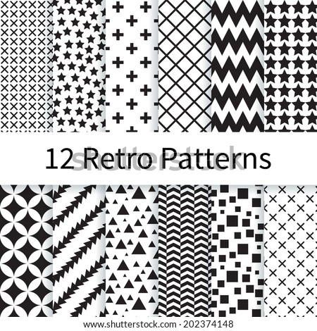 12 geometric retro different