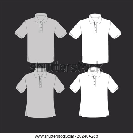 set of polo shirt template