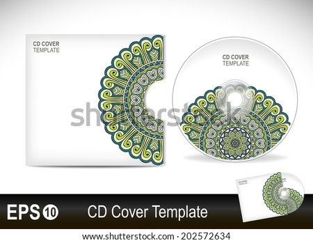cd cover design templatevector