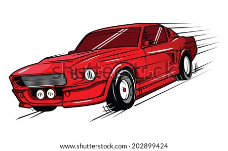 Vector Classic Muscle Cars Free Vector Download 8 548 Free Vector