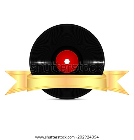 musical vinyl record with a