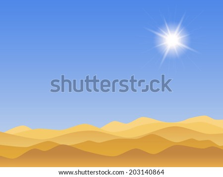 desert landscape with clear