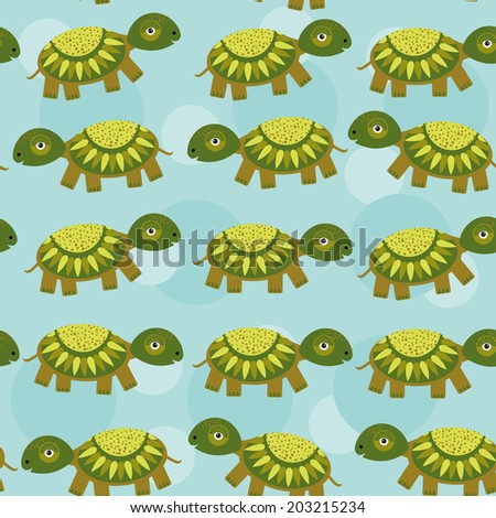 turtle seamless pattern with