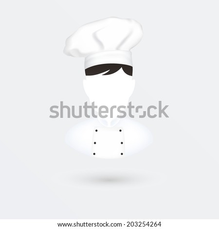chief cook vector icon