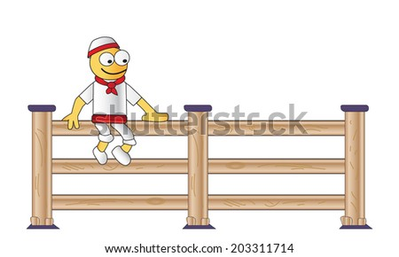 man sitting on the fence
