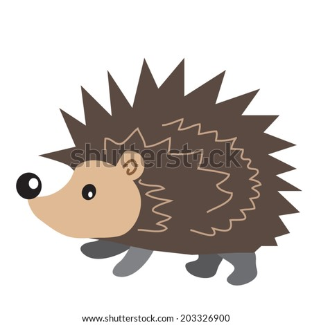 hedgehog vector illustration