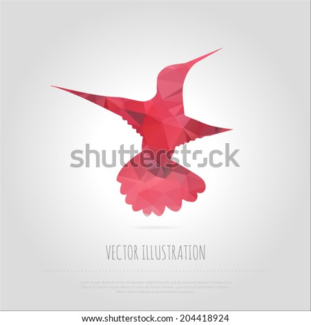 vector art illustration fly