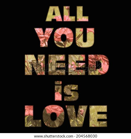all need love vintage retro