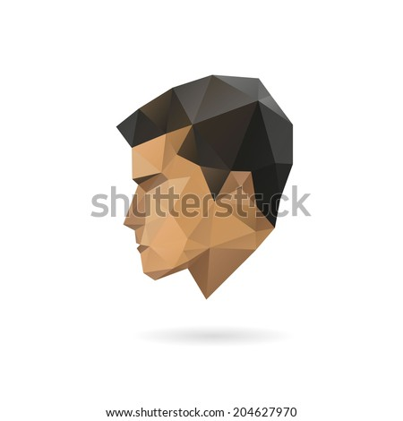 fashion man silhouette  vector