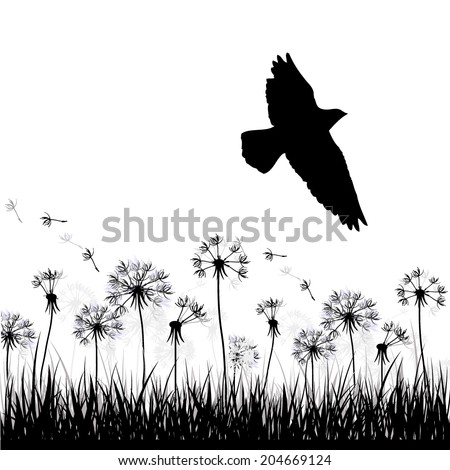 silhouette of grass with