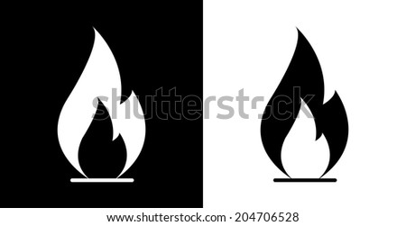 Vector black flame icon Free vector for free download about (3 ...