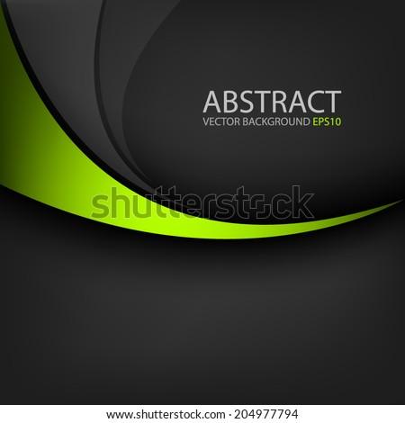 green line curve on black
