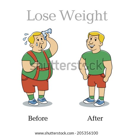 lose weight man vector