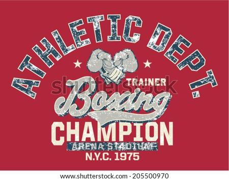 boxing champion   vintage