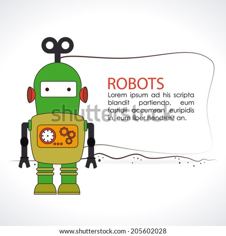 robot design over white