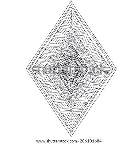original drawing ethnic tribal