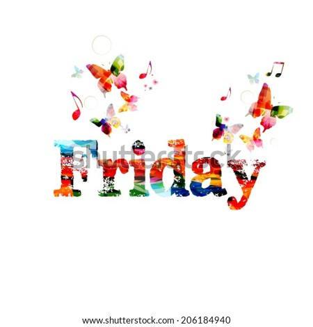 colorful friday vector design