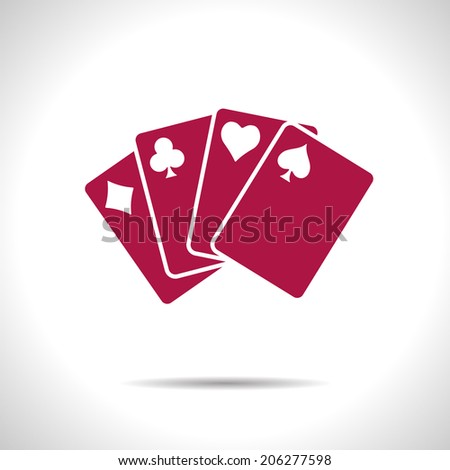 vector red game cards icon