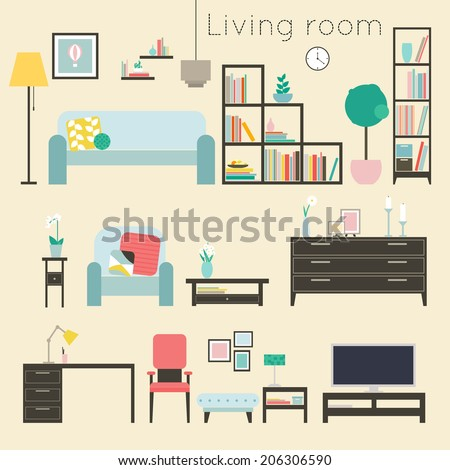 living room furniture and home