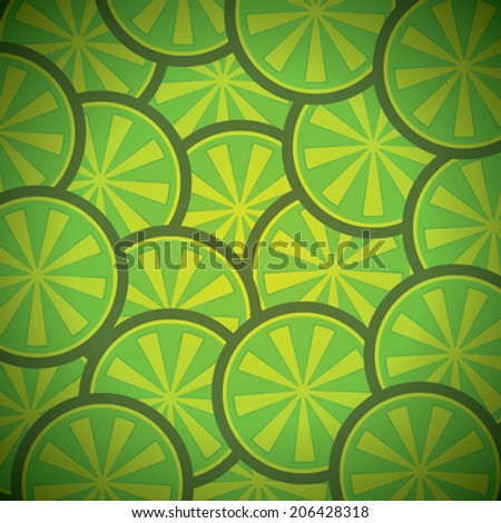green lemon pattern background