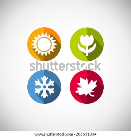 four seasons icon symbol vector