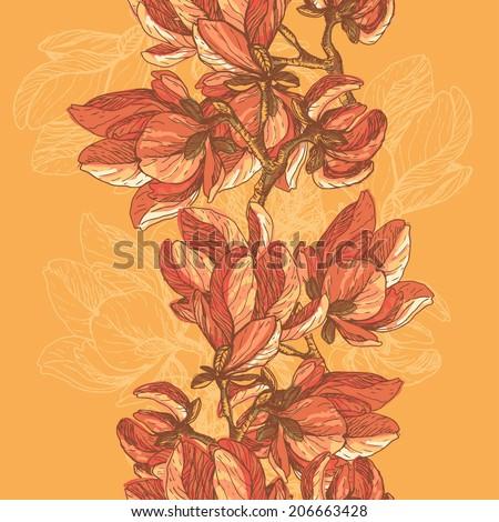 hand drawn elegance  magnolia