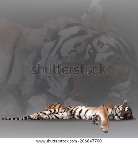 tiger in geometrical style