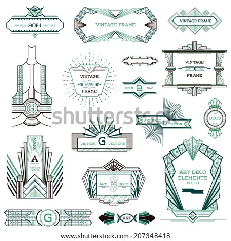 Art Deco Design Elements art deco elements free vector download (214,564 free vector) for